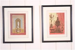Two Framed Interior Decor Chromolithographs