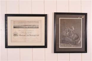 2 Antique German Lithographs