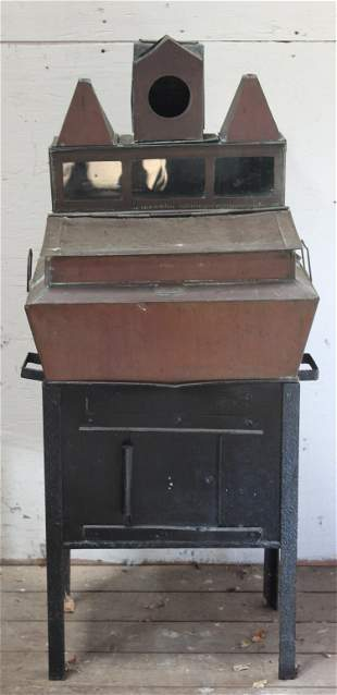 Labeled Silver Brothers Copper Specialty Cabinet