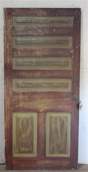 19th C American Paint Decorated Panel Door