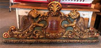 Antique Gilt and Painted Wood Carousel Panel