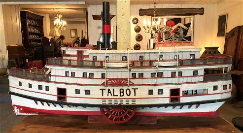 Museum Scale Model Steam Paddle Boat