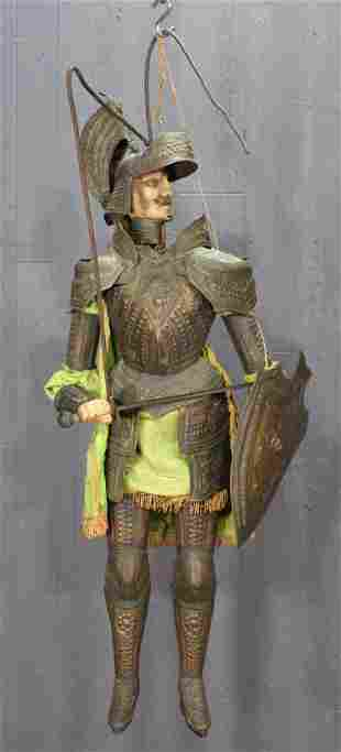 Antique Continental Rod Puppet Knight Marionette