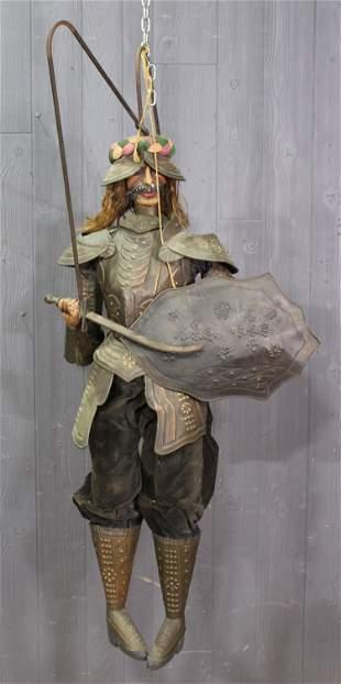Antique Continental Crusader Rod Marionette