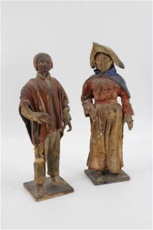 Antique Creche Figures
