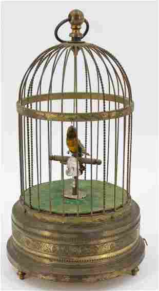 German Automaton Singing Bird In A Cage