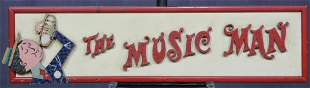 The Music Man Wooden Marquee Sign