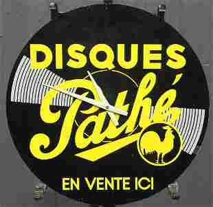 French Disques Pathe Advertising Clock