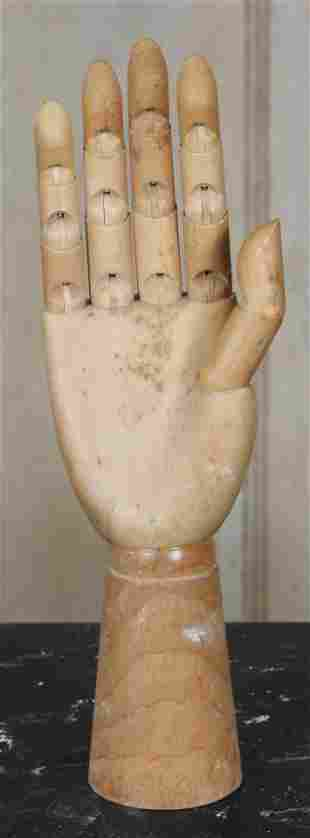Articulated Wood Carved Artist's Lay Hand
