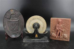 Grinding Stone, Coal Miners Tile, And Fire Marker