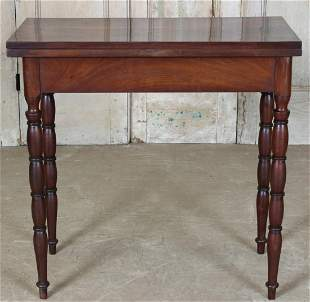 19th C English Flip Top Games Table