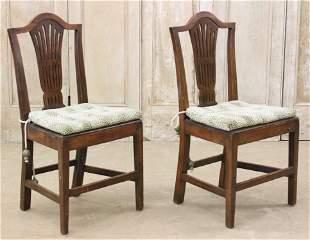 Pair Antique English Wheatsheaf Side Chairs