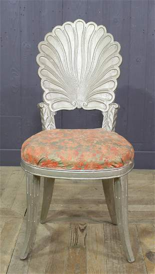 Grotto Style Camel Shell Form Side Chair