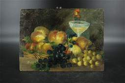 Antique Continental Still Life Painting