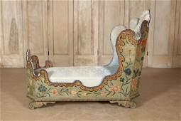 Italian/Venetian Paint Decorated Chaise Lounge