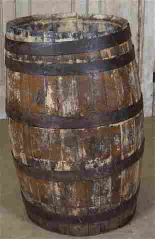 Antique Coopered Barrel