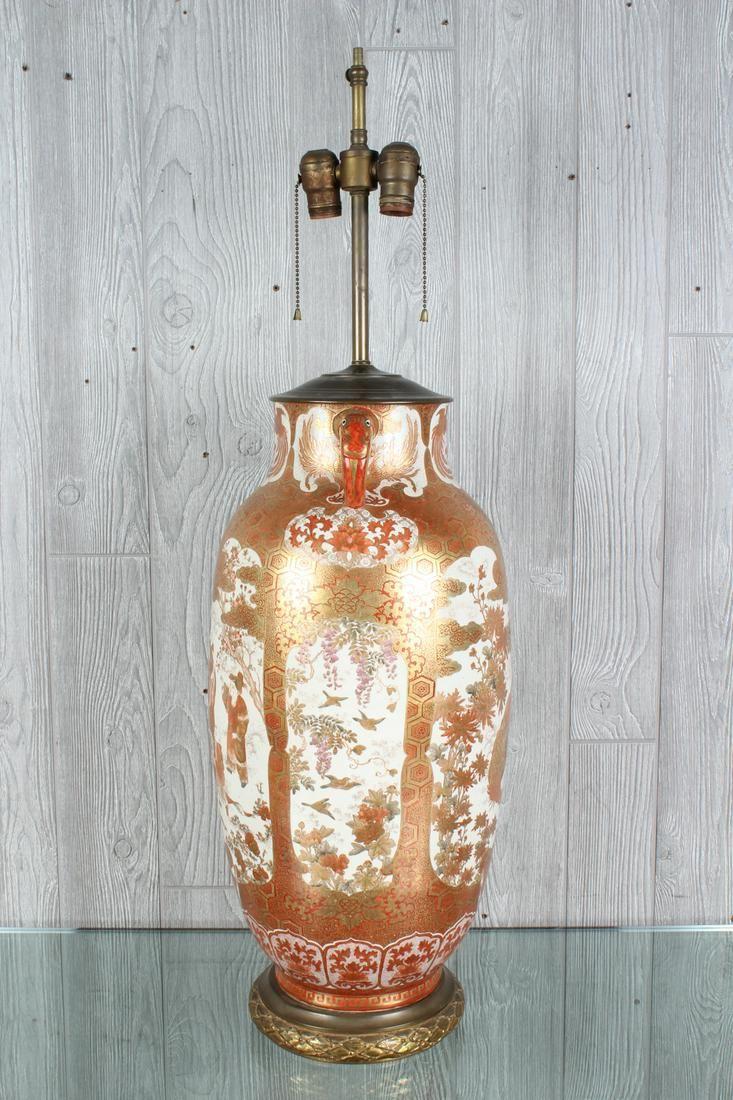 Japanese Satsuma Jar Lamp