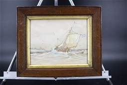 Seascape Painting Attributed to Frederick Tordoff