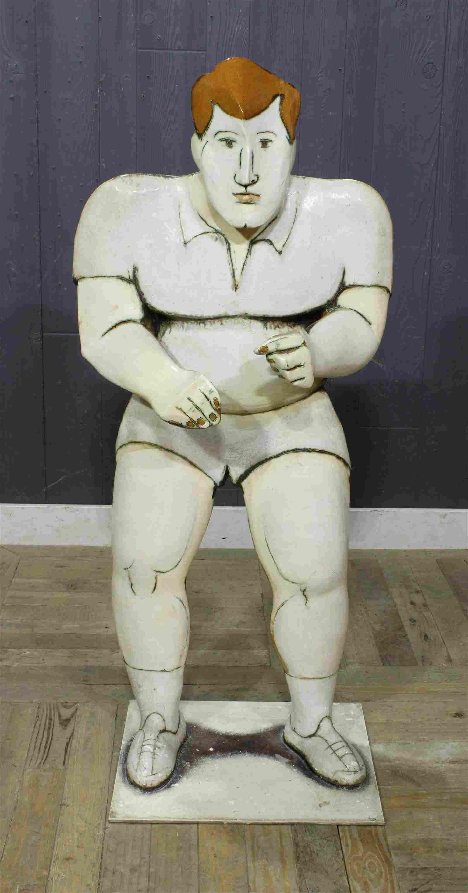 Modernist Glazed Ceramic Sculpture