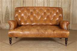Ralph Lauren Home Chesterfield Leather Couch