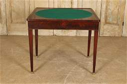 French Louis Philippe Style Flip Top Games Table