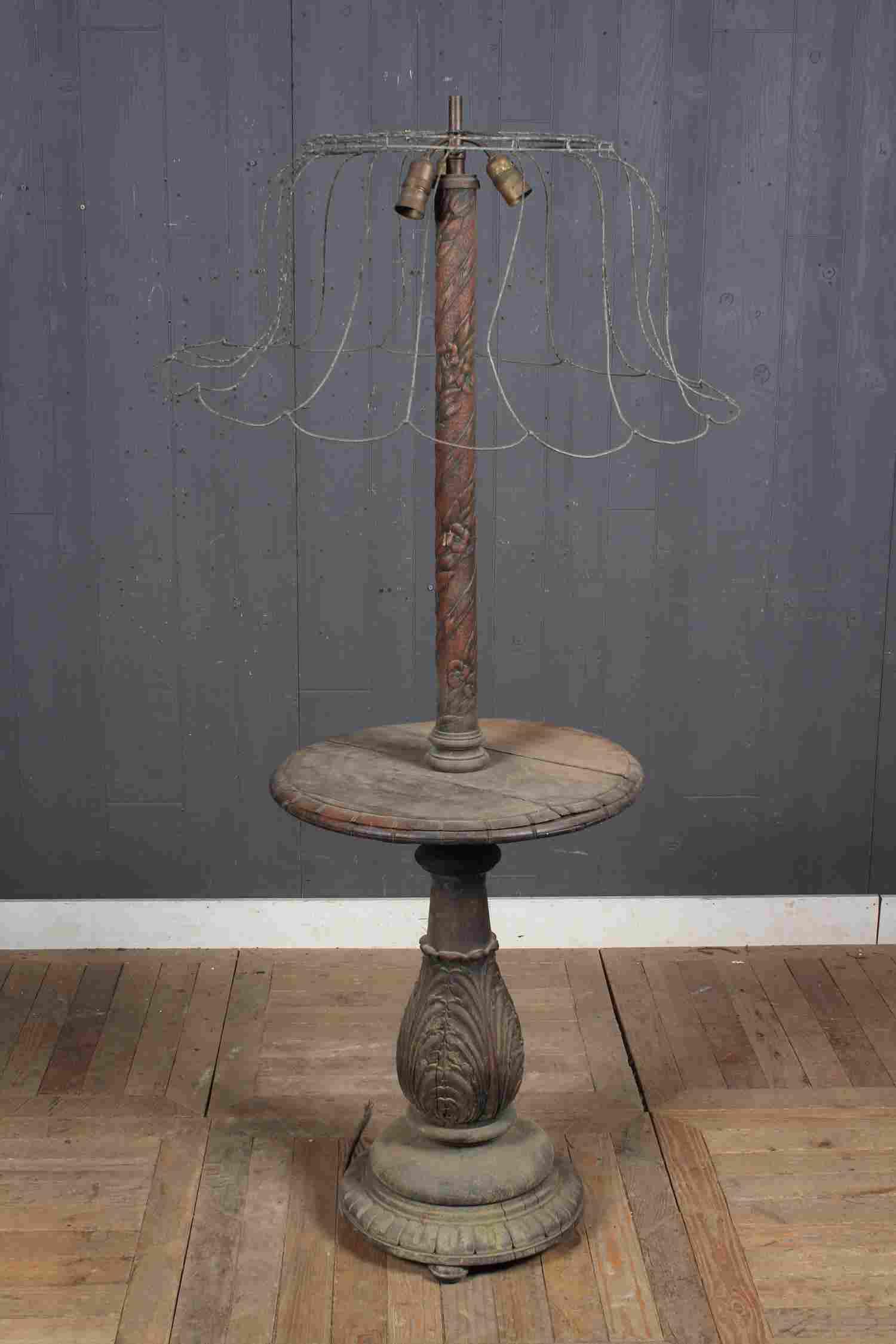 Antique Balustrade Form Floor Lamp