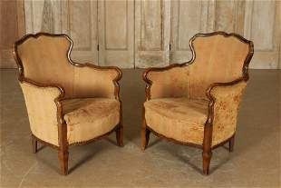 Pair of Stylish Early to Mid 20th C. Armchairs