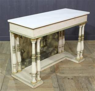 Continental Carved and Painted Console Table