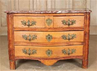 Very Good French 18th C. Serpentine Commode