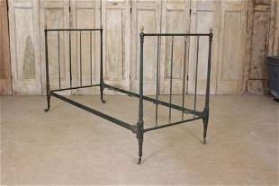 19th C French Empire Style Iron & Bronze Day Bed