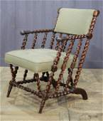 Late 19th C English Barley Twist Armchair