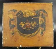 Antique Armorial Heraldry Shingle