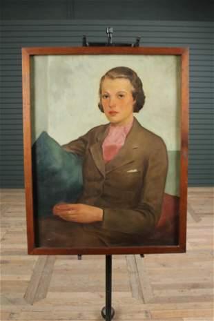 20th C Portrait of Eleanor by David E McMillan