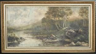 Hudson River School Painting Signed Aukerman