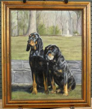 Photo Realistic Painting of 2 Dog Pals