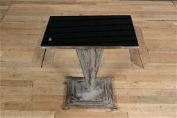 An Art Deco Metal Side Table