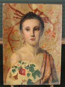 Symbolist Style Portrait Painting