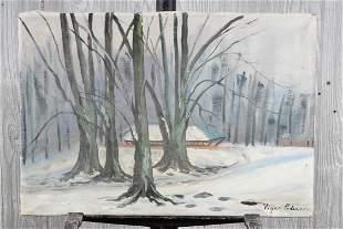 Snowy Landscape After Viggo Pedersen