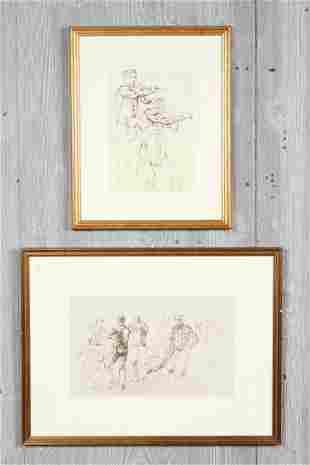 2 David DeLong Ink Drawings