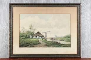 Walter Hartson (20th C American) Watercolor