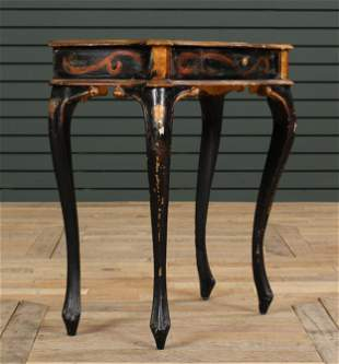 Continental painted  Serpentine Front Side Table