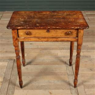 Antique 19th C. Country Side Table