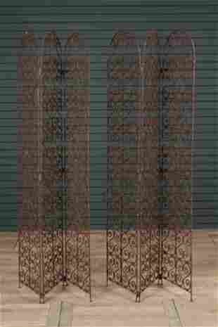 Pair of Continental Wrought Iron Garden Screens