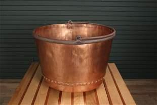 Antique 19th C. Large Scale Copper Kettle