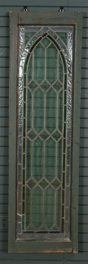 Antique 2 Color Stained Glass Window