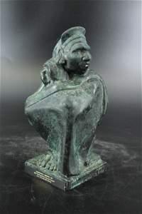 Donal Albert Hord Bronze WPA  Aztec Sculpture