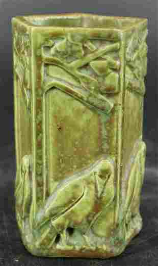 Rookwood Art Pottery Rook Pencil Holder