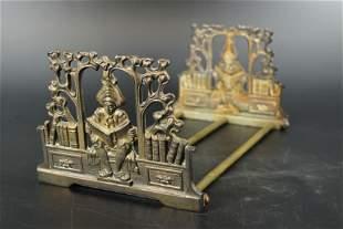 Art Nouveau Figural Adjustable Book Rack