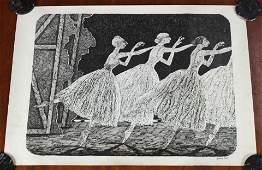 Signed Edward Gorey Ballet Poster
