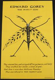 Gorey's The Insect God Poster 2 Yellow Concept